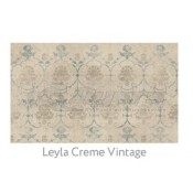 Ruggable 3' x 5' Leyla Cream Vintage Polyester Two Piece Rug System