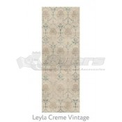 Ruggable 2-1/2' x 7' Leyla Cream Vintage Polyester Two Piece Rug System