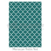Ruggable 5' x 7' Moroccan Trellis Teal Polyester Two Piece Rug System