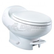 Thetford Aria Classic White Low Profile Foot Flush with Water Saver Toilet