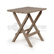 Large Adirondack Table Plastic Taupe in Color