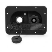 Camco Black Recessed Gravity & City Water Fill