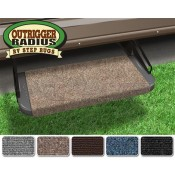 "Prest-O-Fit Walnut Brown 18"" Outrigger RV Step Rug"