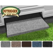 "Prest-O-Fit Castle Gray 23"" Outrigger RV Step Rug"