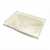 "Lippert Components 36"" x 24"" Parchment Left Hand Drain Bath Tub"