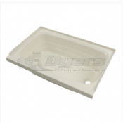 "Lippert Components Better Bath 24"" x 36"" Parchment Right Hand Center Drain Bathtub"