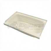"Lippert Components Better Bath 24"" x 40"" Parchment Left Hand Center Drain Bathtub"