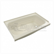 "Lippert Components Better Bath 24"" x 40"" Parchment Right Hand Center Drain Bathtub"