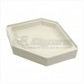"Lippert Components Better Bath 32"" x 32"" Parchment Left Hand Center Drain Shower Pan"