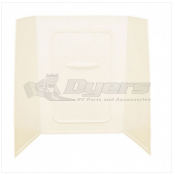 "Lippert Components Better Bath 24"" x 36"" x 56"" Parchment Bath Surround"