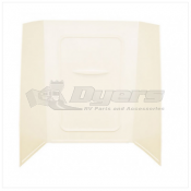 "Lippert Components Better Bath 24"" x 36"" x 59"" Parchment Bath Surround"