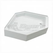 "Lippert Components Better Bath 32"" x 32"" White Right Hand Center Drain Shower Pan"