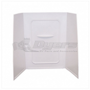 "Lippert Components Better Bath 24"" x 36"" x 62"" White Bath Surround"