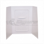"Lippert Components Better Bath 24"" x 36"" x 56"" White Bath Surround"