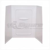 "Lippert Components Better Bath 24"" x 36"" x 59"" White Bath Surround"