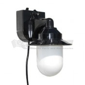 Polymer Black Portable RV Wall Lantern Porch Light