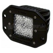 Rigid Industries D-Series Single Flush Mount Dually LED Diffused Light