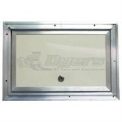 "Interstate Metal 14"" x 18"" Colonial White Aluminum Baggage Door"