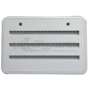 Norcold Plastic Bone White Louvered Service Vent