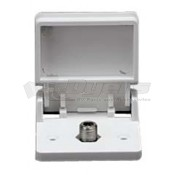 Prime Products Colonial White Single Outdoor TV Outlet