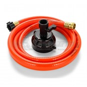 Camco RhinoFlex 10' Clean Out Hose w / Rinser Cap