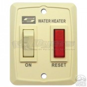 Suburban Water Heater White Wall Plate Switch Assembly