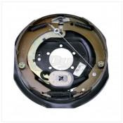 """Lippert Components 12"""" x 2"""" Left Hand 4-7K Forward Self-Adjusting Brake Assembly; 5-Bolt Mount"""
