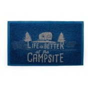 Camco Life is Better at the Campsite Blue Scrub Rug