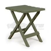 Camco Small Adirondack Table Plastic Sage in Color