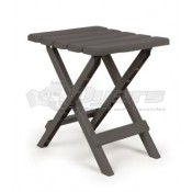 Camco Small Adirondack Table Plastic Charcoal in Color