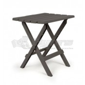 Camco Large Adirondack Table Plastic Charcoal in Color