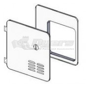 Girard New Generation Hinged Door/Flange Assembly for a 10 or 12 Gal Atwood or Suburban Retrofit
