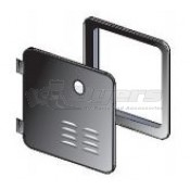 Girard New Generation Black Hinged Door/Flange Assembly for a New Installation or a 6 Gal Suburban Retrofit