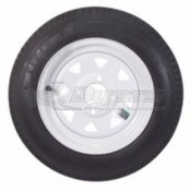 Americana Load Star ST 205/75R-15 LRC Tire & 5 Hole White Wheel Assembly