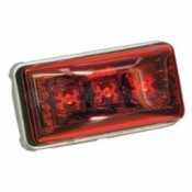 Wesbar Waterproof LED Clearance/Side Marker Light - Red