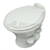 Dometic Low Profile ReVolution 311 White China Foot Flush Toilet with Hand Spray