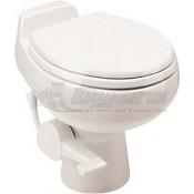 Dometic Sealand Traveler 510 Plus White China Foot Flush Toilet w/ Hand Sprayer