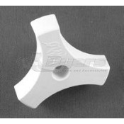 "Strybuc 1/2"" White Kinro Window Knob"