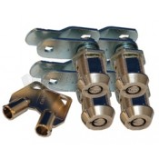 """Prime Products 7/8"""" Ace Key Baggage Lock - 4 Pack"""