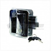 Lippert Components Entry Door Replacement Travel Trailer Lock Kit in Chrome