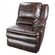 Lippert Components Momentum Theater Marquee Collection Left Arm Recliner with Heat/Massage Functions
