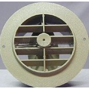 "D&W Beige 4"" Round Register with Damper"