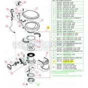 Dometic 510H Bone Toilet Base Kit