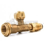 Camco Brass 3 Port LPG Tee