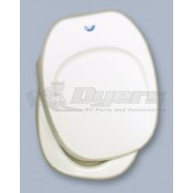 Thetford Aqua Magic IV Hand Flush Parchment Seat and Cover Assembly