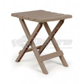 Camco Small Adirondack Table Plastic Taupe Color
