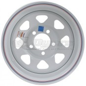 Trailer Wheel; 15 Inch Diameter x 6 Inch Width; 5 x 4.5 Inch Bolt Pattern
