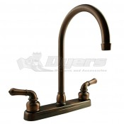DURA J-Spout Oil Rubbed Bronze RV Kitchen Faucet