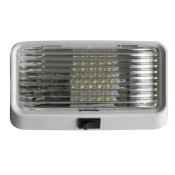 Diamond White LED Clear Lens Porch Light with Switch
