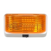 Diamond White LED Amber Lens Porch Light with Switch